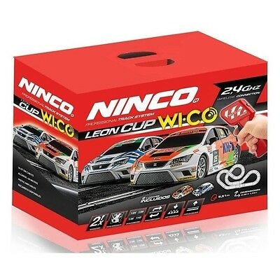 "Ninco 20189 Start Set "" Seat Leon Cup "" 8,51m with Wico Regulators - New Sealed"