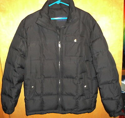 Dockers Black Feather Down Puffer Jacket Size Medium Mens New