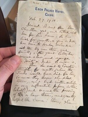 RARE LETTER ABOUT THE RMS LUSITANIA Feb. 1914 The Lusitania Will Not Sail