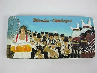München Oktoberfest WIES´N Poly Panorama Magnet Relief,11 cm,Souvenir Germany