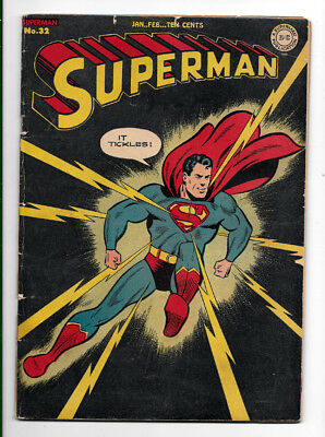 Superman #32 VG- 3.5 Golden Age Comics, It Tickles!