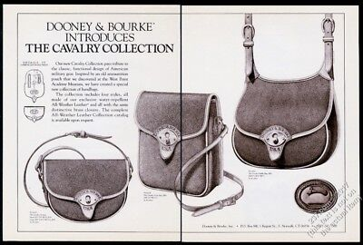 1986 Dooney & Bourke Cavalry Saddle bag Scout Trooper art vintage print ad