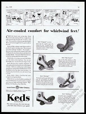 1929 Keds high top basketball shoes 4 styles photo vintage print ad