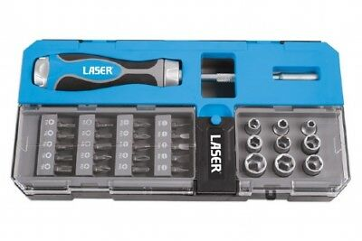 Laser Tools 6992 | Ratchet Bit and Socket Set - 33pc