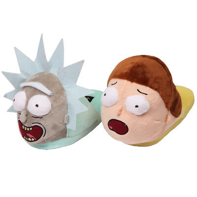 Rick And Morty Besties Faces Unisex Adult 3D Plush Slippers
