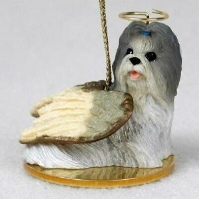 Small Angel SHIH TZU MIXED COLOR Christmas Angel Tree Ornament