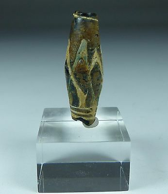 Beautiful Large Ancient Mosaic Glass Bead Circa 500-900Ad  (02)