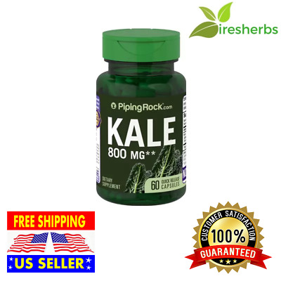KALE EXTRACT 800 mg Help Lower Cholesterol PILLS DIETARY SUPPLEMENT 60 CAPSULES