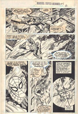 Marvel Super-Heroes #4 p.2 - Spider-Man Web-Slinging - 1990 art by Don Perlin