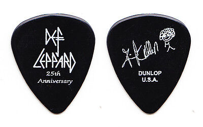 Def Leppard Rick Allen Signature Black 25th Anniversary Guitar Pick - 2005 Tour