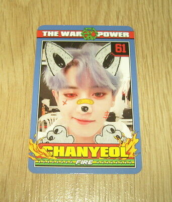 EXO K M 4th Repackage Album The Power of Music ChanYeol B Photo Card Official
