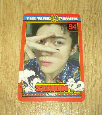 EXO K M 4th Repackage Album The Power of Music Sehun A Photo Card Official