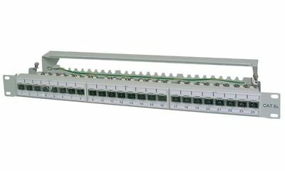 "DIGITUS 19"" Patch Panel Kat.6A (tief), 24 x RJ45, 1 HE"