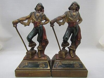 Vintage Armor Bronze Pirate Bookends