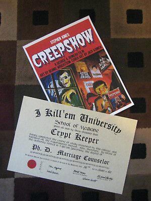 "Tales from the Crypt ( 1"" x 17"")  Marriage Counselor PhD Diploma & Cover Poster"
