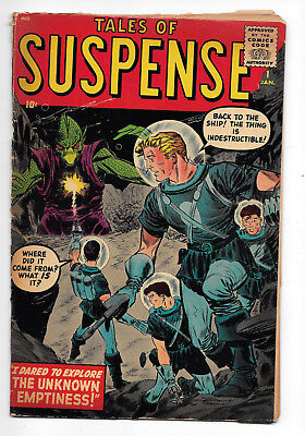 Tales of Suspense #1 Tough Book VG+ 4.5 Giant Monster Cover, Pre Hero Marvel
