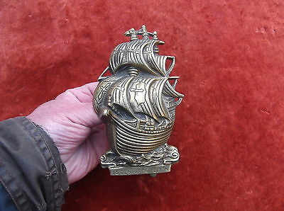 Large Heavy Vintage 16Th Century Galleon Door Knocker/maritime Ship Door Striker