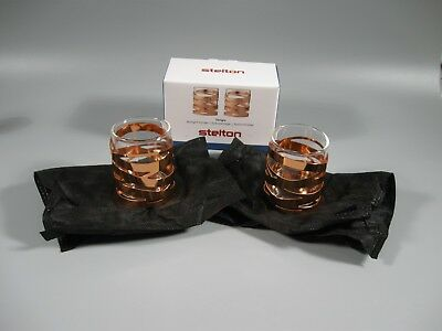 STELTON Tangle Tea Light Holder 2 Piece Copper 136167 NEW