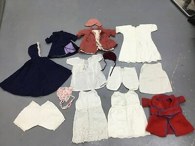 Lot of Vintage Antique Victorian Baby Toddler Doll Clothes Handmade