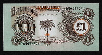 BIAFRA (P5a) 1 Pound ND(1968) aUNC+