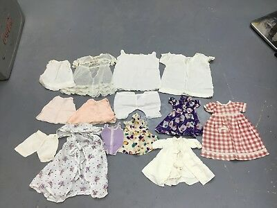 Lot of Vintage Antique Victorian Baby Toddler Children's Doll Clothes  Handmade
