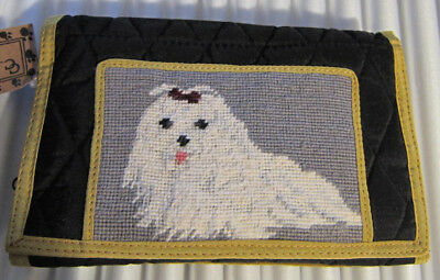 NP Wallet Purse MALTESE Needlepoint Purse/Wallet RETIRED CLEARANCE