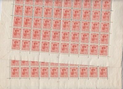CAN 065 Luxembourg - CHARLOTTE Prifix 130 Plate No 3 detached x 2 MNH sheets