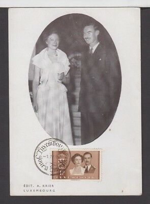 COV 007 Luxembourg - 1953 Marriage Jean & Josephine Charlotte Photographic Card