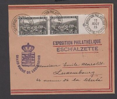 COV 012 Luxembourg - 1935 Exposition Philatelique Esch Emile Maroldt high $$