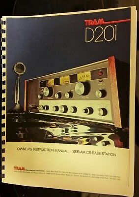 Tram Cb Radio Owner's Manual Model D201 69 Pages
