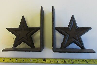Pair Of 2 Cast Iron Texas Star Bookends