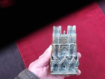 Antique Heavy Brass Rheims Cathedral Door Knocker/usa Patent French Church Knock