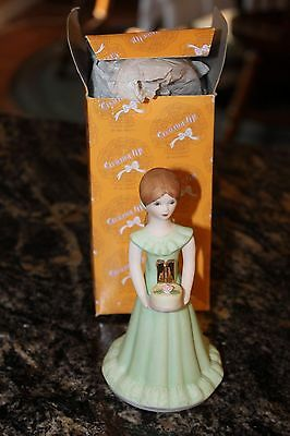 1982 Enesco Growing Up Birthday Girls Figurine Age 11 Brunette Statue Topper