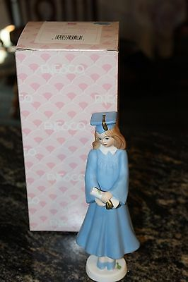 Enesco Growing Up Girls Brunette Graduation Figurine, 7.5-Inch 51572 Vintage Box