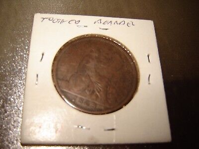2 coins Great Britain Queen Victoria 1 One Penny.  1863 & 1921
