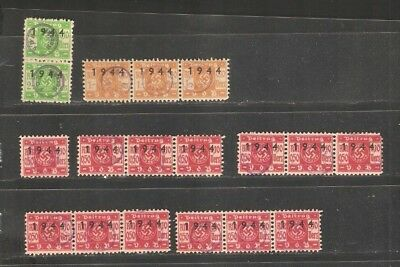 LU18 LUXEMBOURG beautiful VDB Beitrag 1944 cancelled selection