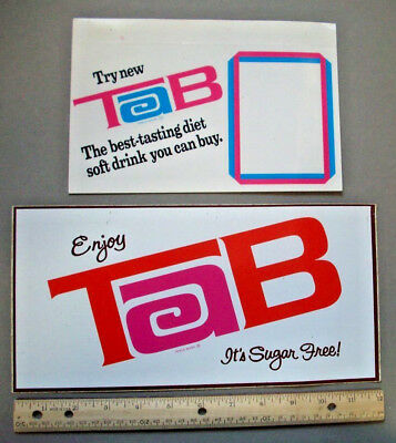 Large TAB soda decal sticker  and advertising card  *A1