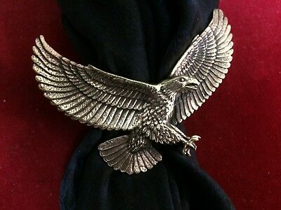 Scarf Slide/Wild Rag Slide: Bronze, Large Eagle