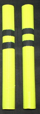 1, 2 or 4 RIPPLE Grips (FLURO Yellow with BLACK Rings) Cricket Bat Grips- JSM