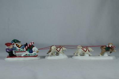 Dept 56 North Pole 'Canine Couriers' 3 Pieces Together #56.56709 In Original Box