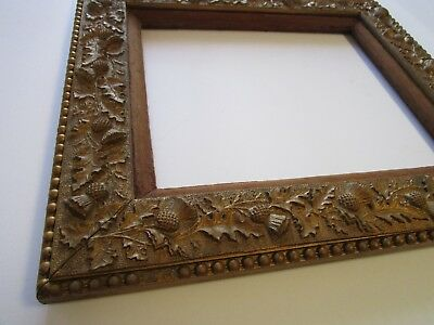 Antique 19Th Century Frame Very Ornate For Painting Print Photo Wide Gorgeous