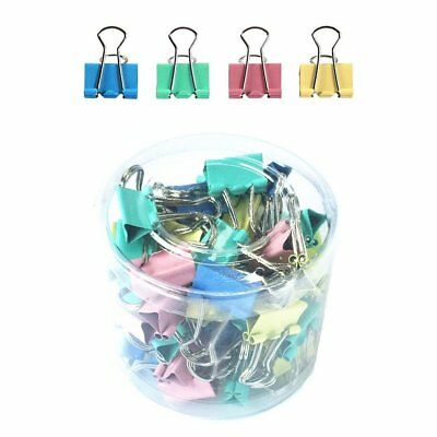 Qiorange Assorted Colors Mini Organize Metal Paper Binder Clips 1 60 Pieces 15mm