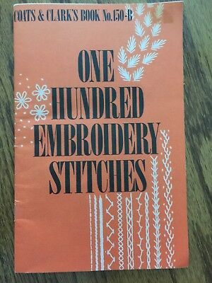 Vintage 1979 Coats & Clark's Book No. 150-B One Hundred Embroidery Stitches-Used