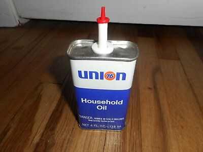Vintage Nos Fresh Out Of The Case Union 76 Household Handy Oiler Oil Can - Mint