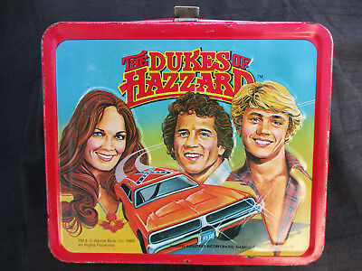 VINTAGE 1980 DUKES OF HAZZARD LUNCHBOX w GENERAL LEE 1969 DODGE CHARGER