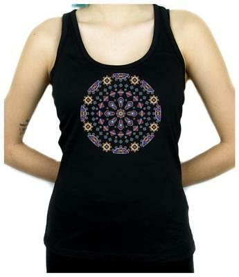 Gothic Stained Glass Window Women's Racer Back Tank Top Shirt Dark Alternative