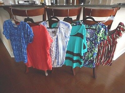 Lot of 5 * MIXED BRANDS * Womens Office Business Casual S/S Tops * SZ XL * EUC