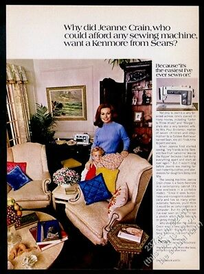 1970 Jeanne Crain photo Sears Kenmore sewing machine vintage print ad