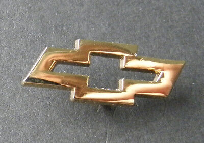 Chevy Chevrolet Bow Tie Emblem Gold Colored Lapel Pin Badge 3/4 Inch