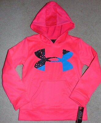 ~NWT Girls UNDER ARMOUR Hot Pink Hoodie! Size 5 Cute:)!